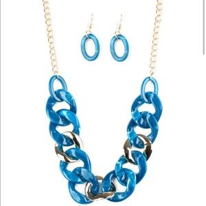 I Have A HAUTE Date - Blue Necklace